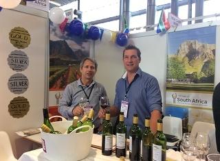 Pieter Carstens and Callie Coetzee, representing Arbelos wines.
