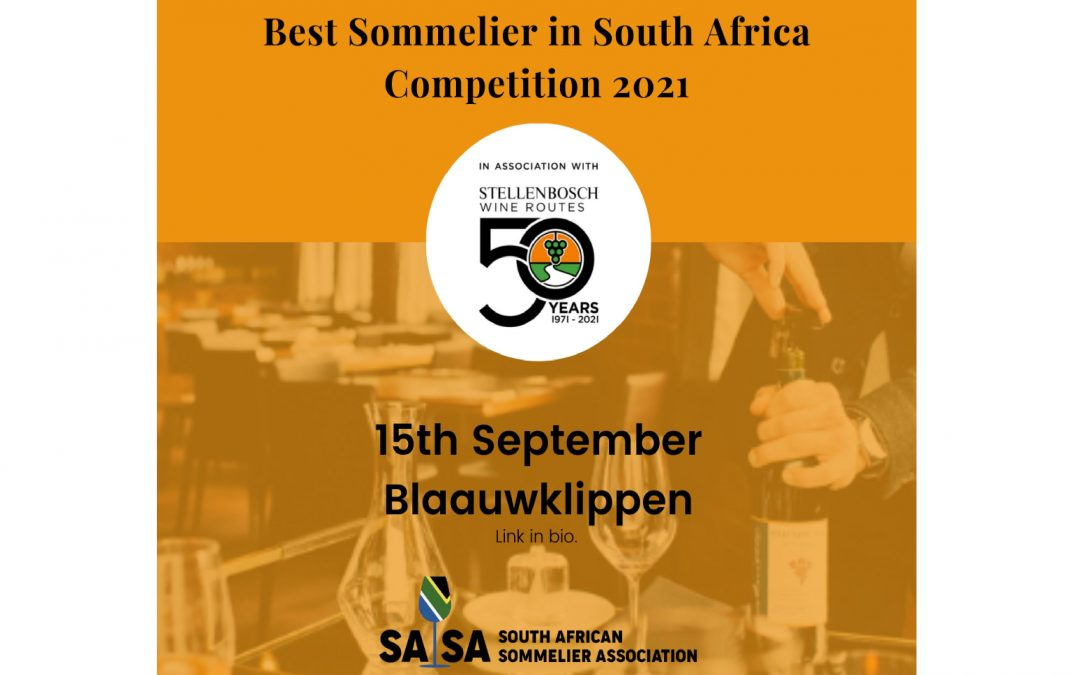 Entries open for Best Sommelier in South Africa 2021